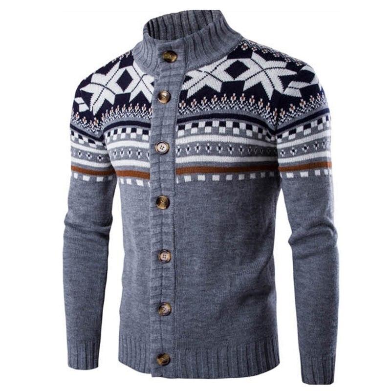 Nouveau Chic automne hiver Cardigan chandail hommes à manches longues chandails veste décontracté noël tricoté mâle chandail manteau tricots