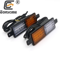 Eonstime 2pcs 12V/24V Amber White Trailer Car Truck LED Tail Light Trailer Taillight Reversing Running Brake Turn Rear Light