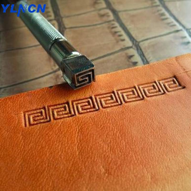 Leather Printing carving Diy Tool Steel Wave pattern stamp Leather Craft Tools Embossing stamp