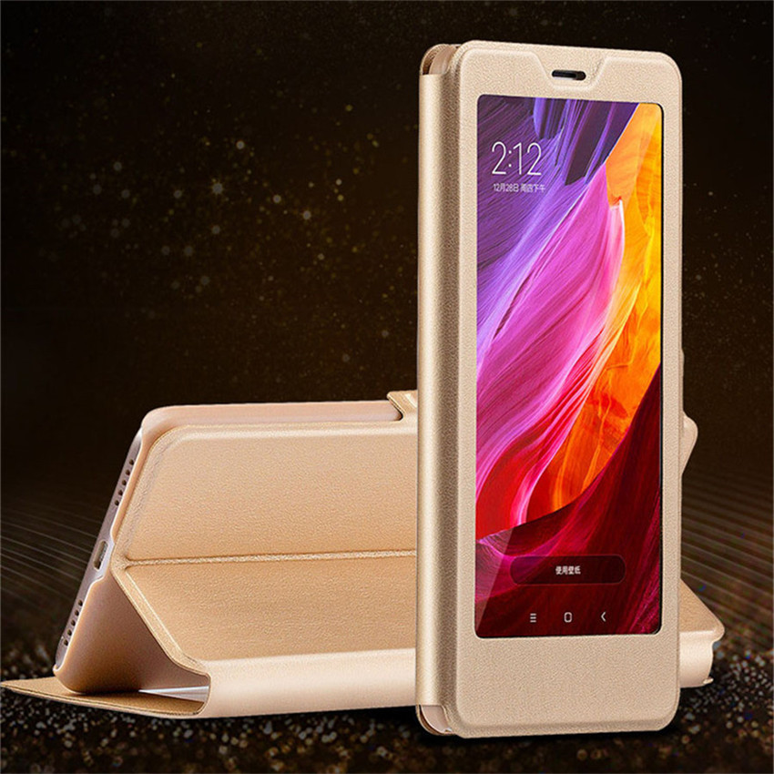 Full Window Stand Leather Case For Xiaomi Redmi 6A Case Smart Flip Cover For Xiaomi redmi 6A Redmi6 6 Pro Xiaomi Cases (1)