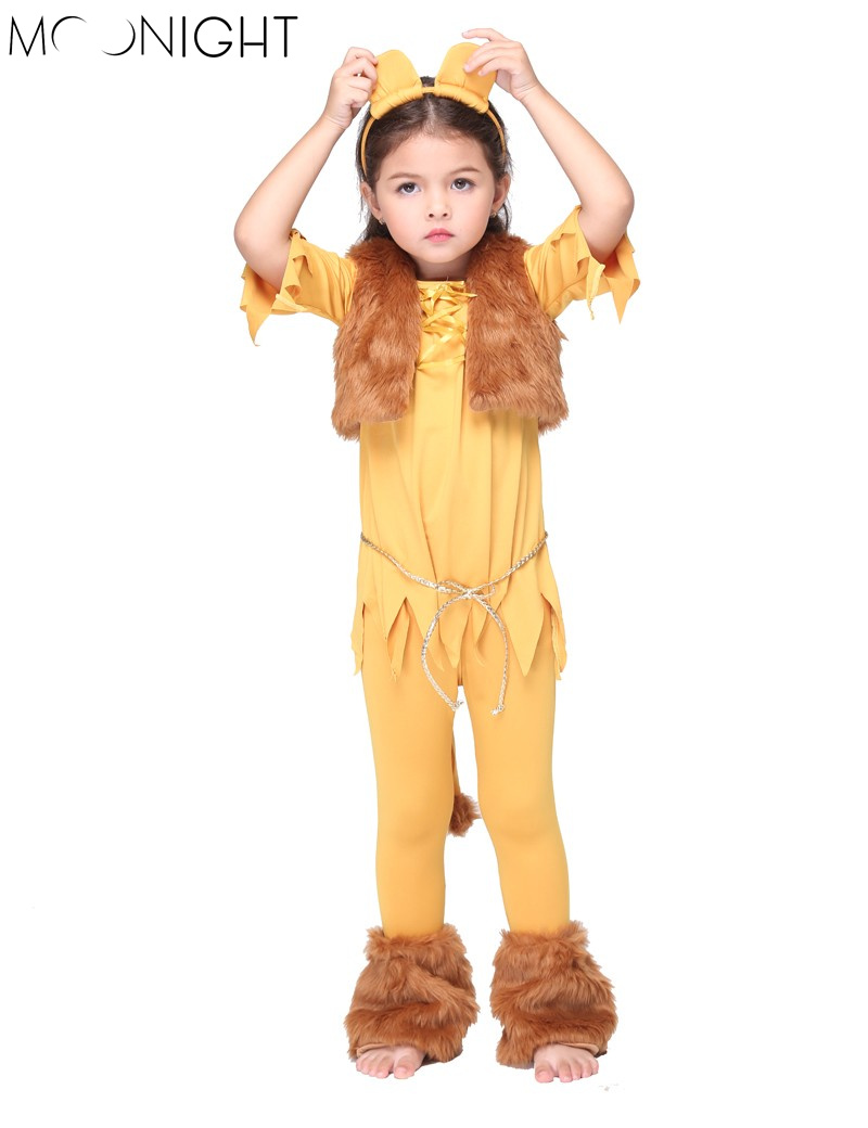 MOONIGHT Lion Girls Movie Costume Lion Kids Costume Child Lion Costume for Halloween