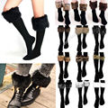 2015 Fashion Winter Style Casual Free Size Women Faux Fur Snow Leg Socks Fur Cover Cuff Boots Knee Socks Shoes Fit