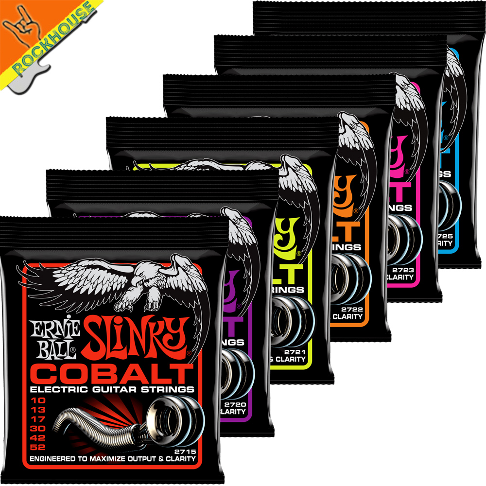 Ernie Ball Cobalt Slinky Electric Guitar Strings Guitarra String Extended Dynamic Range Soft and Silky Made in USA Free Shipping 10 pack alice a503 009 010 in electric guitar strings e 1st single plated steel string free shipping