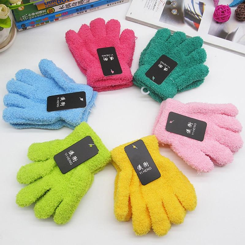 Multi-color Netter Junge Mädchen Vollfinger Handschuhe Hand Handschuhe Warme Winter Samt Handschuhe 2018 Dropshipping