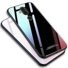 Capa de silicone para nokia 6.1 7.1 plus, capa protetora de vidro temperado brilhante, macio, à prova de choque para nokia x6 x7 8.1 7 mais casos