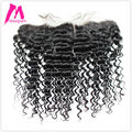 8A Premium Maxglam Brazilian Deep Wave Lace Frontal Closure Hand-tied 4x13 Curly Hair Lace Closure Mink Brazilian Virgin Hair