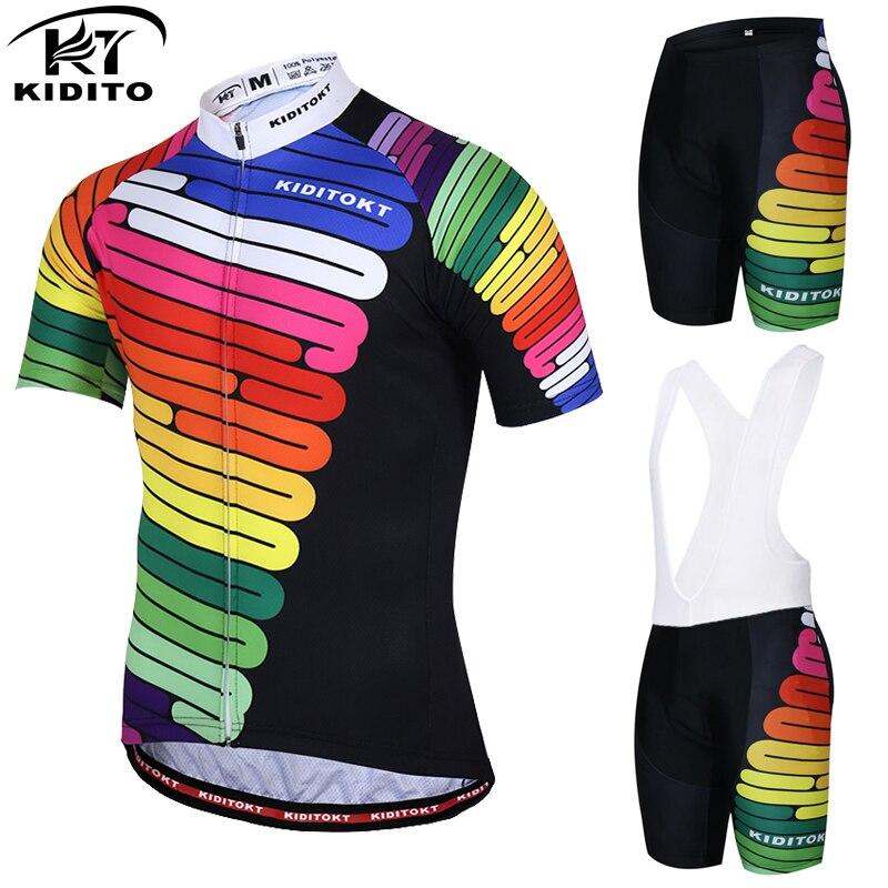 Prix pour Kiditokt hilai pro maillot vtt vélo vêtements usure vêtements de cyclisme ropa ciclismo vélo fixe vélo de course vélo jersey ensemble