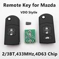 Dominante alejada Del Coche para MAZDA 2 3 5 6 M2 M3 M5 M6 Axela Premacy Demio Atenza 433 MHz VDO de Stytle