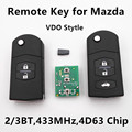 Remote Car Key for MAZDA 2 3 5 6 M2 M3 M5 M6 Demio Axela Premacy Atenza 433MHz VDO Stytle