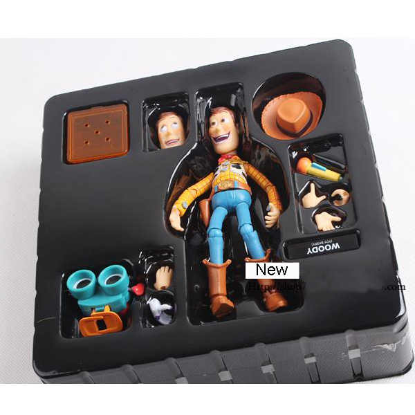 Toy Story Woody Series NO. 010 Sci-Fi Revoltech Special PVC Action Figure Collectible Toy mens camo field jacket
