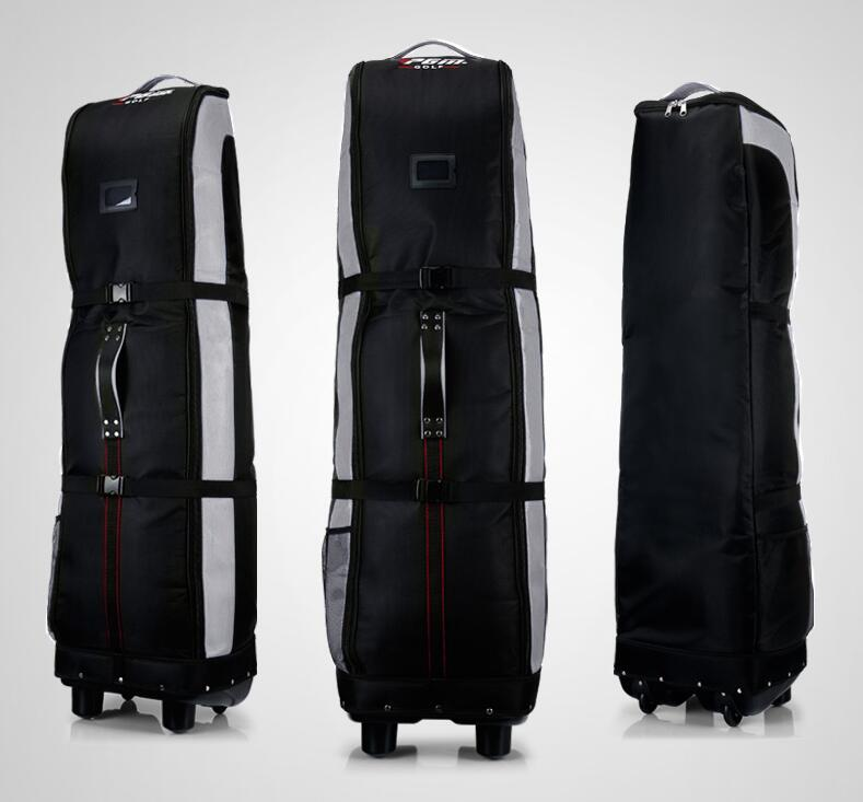 PGM Golf Aviation Bag Double Thickening Cotton Large Capacity Golf Travel Bags with Pulley Durable Thicken Consignment Package