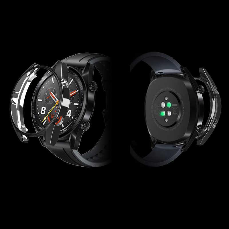 360 Accessori di copertura per Huawei Orologio GT fascia del braccialetto pieno protezione dello schermo per Huawei Orologio G T custodia protettiva protezione coque