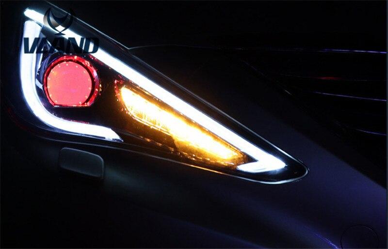 Бесплатная доставка завод Вланд Sonata8 светодиодные фары HID (Ксеноновые лампы) 2011 2014 перемещая указатель поворота конструкция Подключи и играй