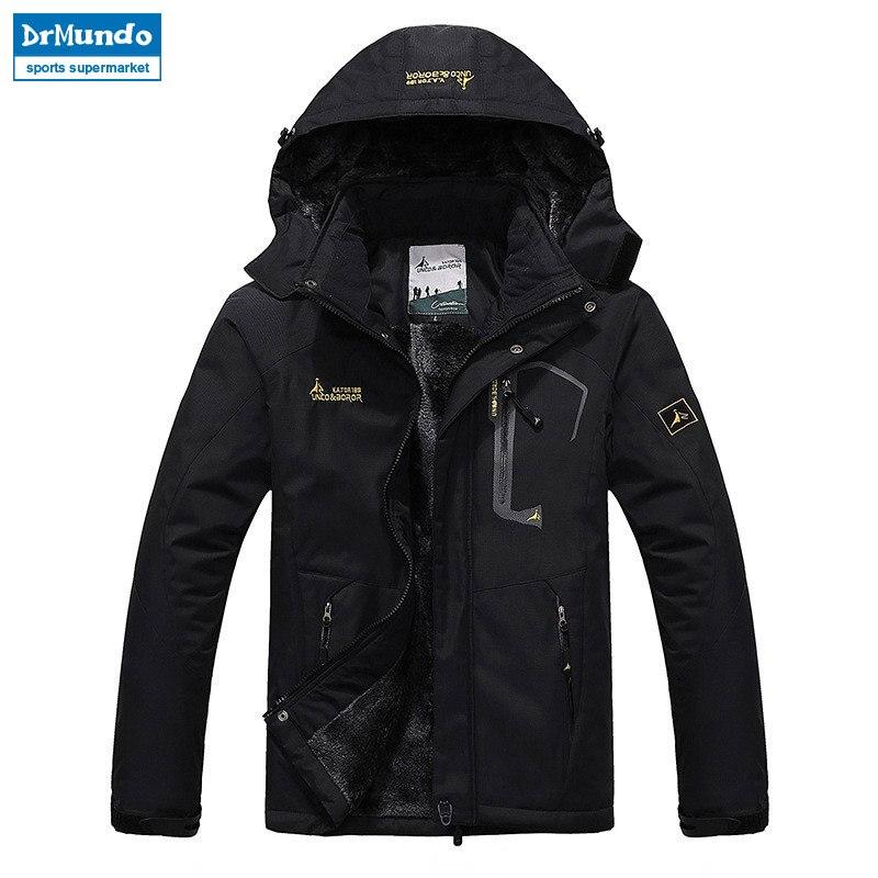 Ski Jacket Men Waterproof Fleece Snow Jacket Thermal Coat For Outdoor Mountain Skiing Snowboard Jacket Plus