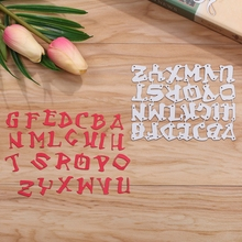 A-Z 26PCS Alphabet Metal Cutting Dies Stencils For DIY Scrapbooking Decorative Embossing Suit Paper Cards Die Template