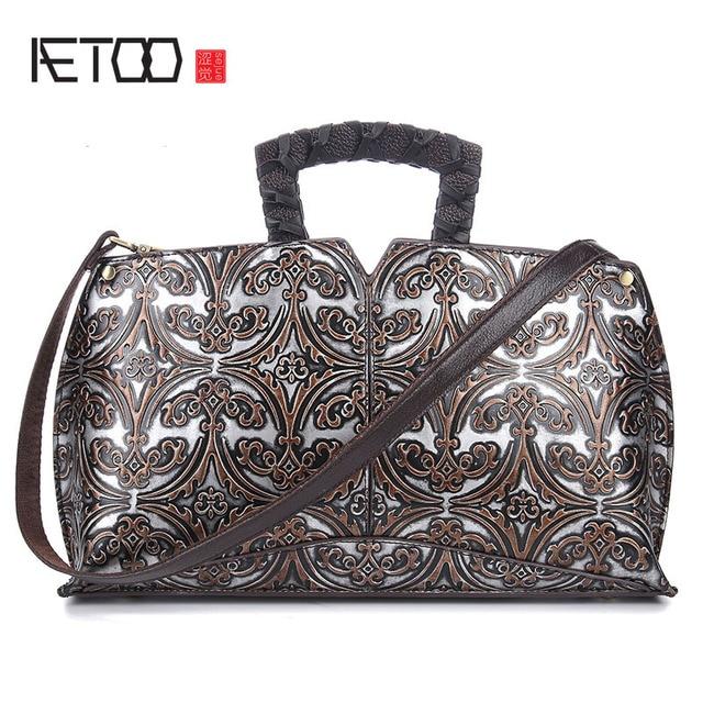 4d2258a255587 AETOO Leder retro hand wisch farbe diagonal paket geprägte handtasche hand tasche  leder-umhängetasche handtasche