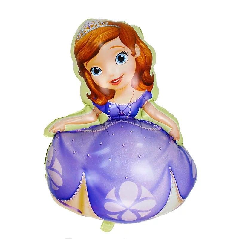 1 pcs dos desenhos animados princesa sofia balões folha balão de