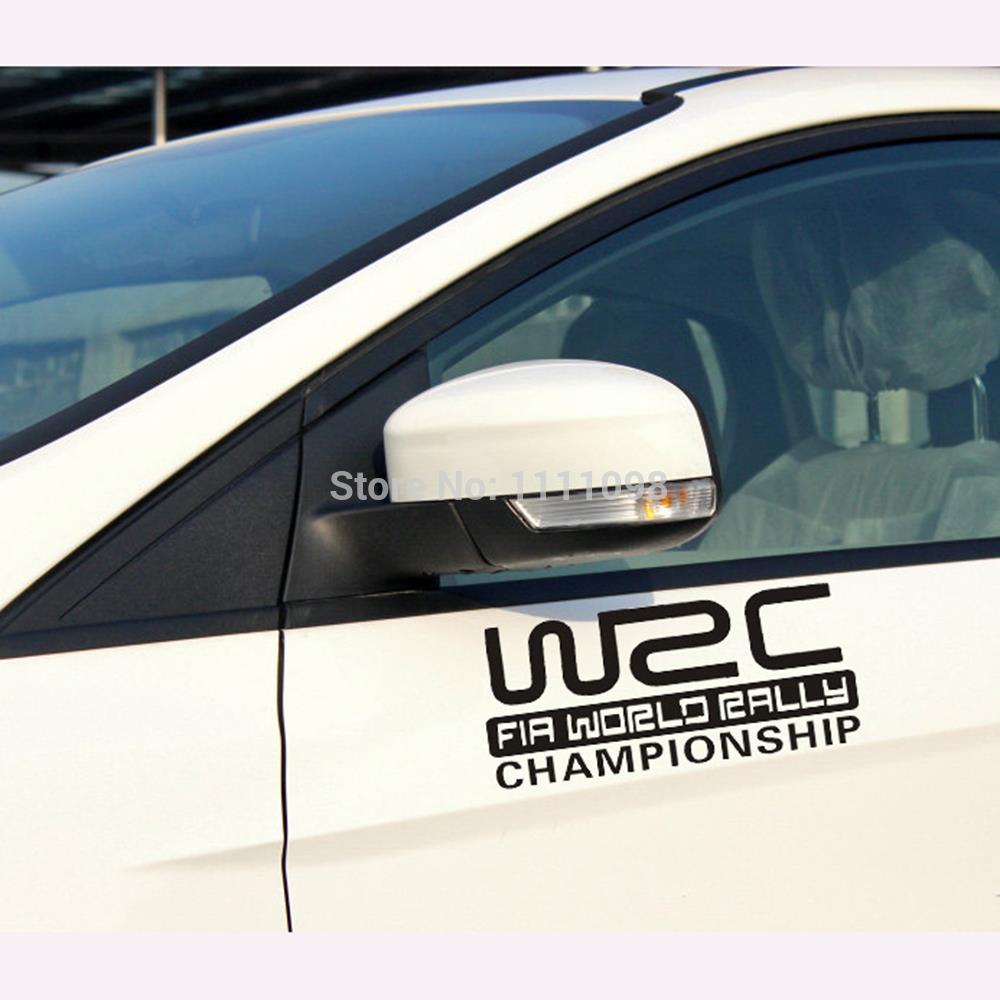 Car sticker design name - 10 X Wrc Fia World Rally Championship Car Sticker Car Reflective Decal For Toyota Chevrolet Volkswagen