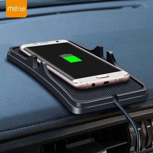 Image 1 - 10W 범용 자동차 충전기 Qi 무선 충전기 충전 도크 패드 빠른 충전기 대시 보드 홀더 iphone XR