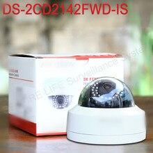 En la acción Envío Libre Inglés versión DS-2CD2142FWD-IS $ NUMBER MP mini cámara de red domo cctv, P2P 1080 p cámara IP POE WDR 120dB