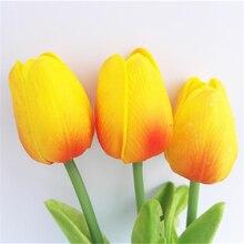 Dutch Orange Tulip Bouquet Fashion Wedding Flowers Artificial Fake Bulbs Bridal Tulip Dutch Orange Tulip