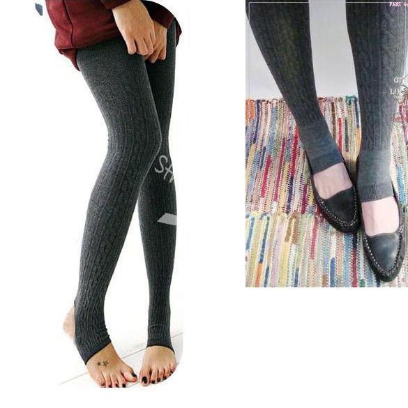 Comfortable Women Cotton Tights Pants Stirrup Winter Warm ...