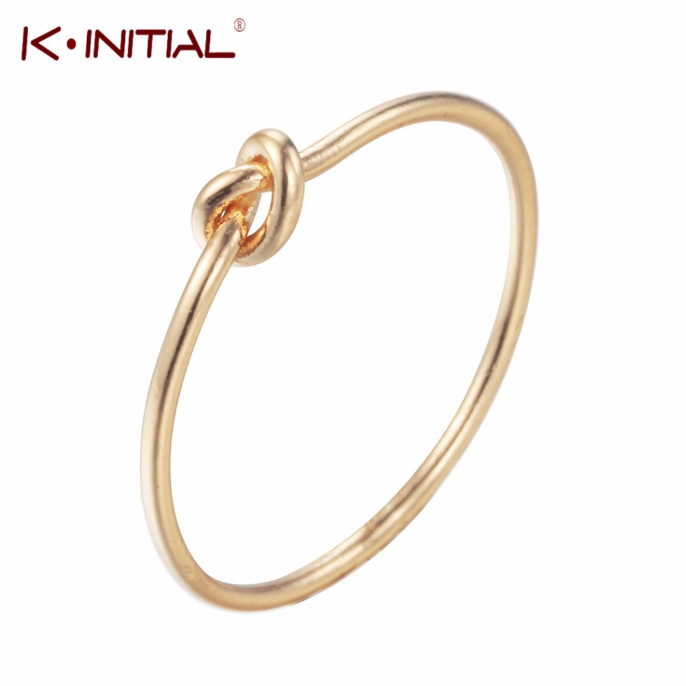 Kinitial 2018 New Knot Rings For Women Charm Purity Love Engagement Ring Couples Promise Jewelry Bague Femme