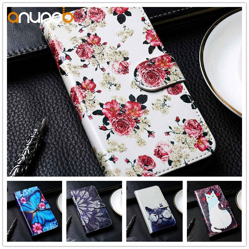 Stand Flip PU Leather Case For <font><b>Doogee</b></font> N10 <font><b>Valencia</b></font> <font><b>2</b></font> <font><b>Y100</b></font> <font><b>Pro</b></font> Y6 Y6C Y6 <font><b>Pro</b></font> X60L F5 Homtom HT7 Case Cover DIY Painted Wallet Bag image