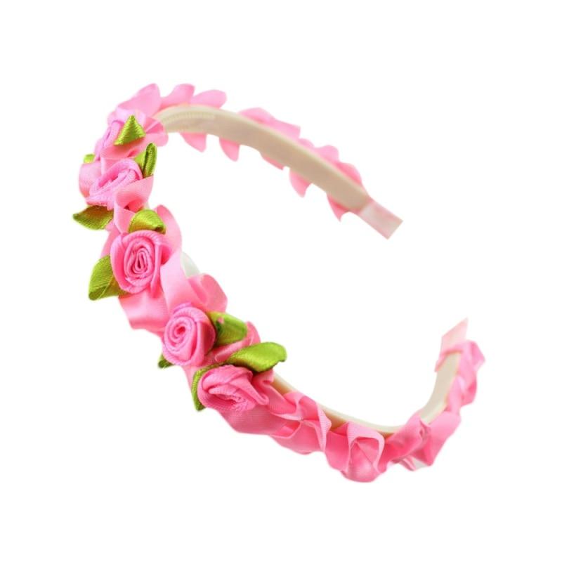 8 Colori Per Bambini Nastro Rosa Del Fiore Del Bambino Headwear Belle Fasce Della Ragazza Della Principessa Accessori Hairband Della Fascia Ll4