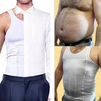 Мужские Шейперы без рукавов упругий живот предохранительный пояс жилет контроль пояс для похудения облегающее нижнее белье рубашка жилет ...