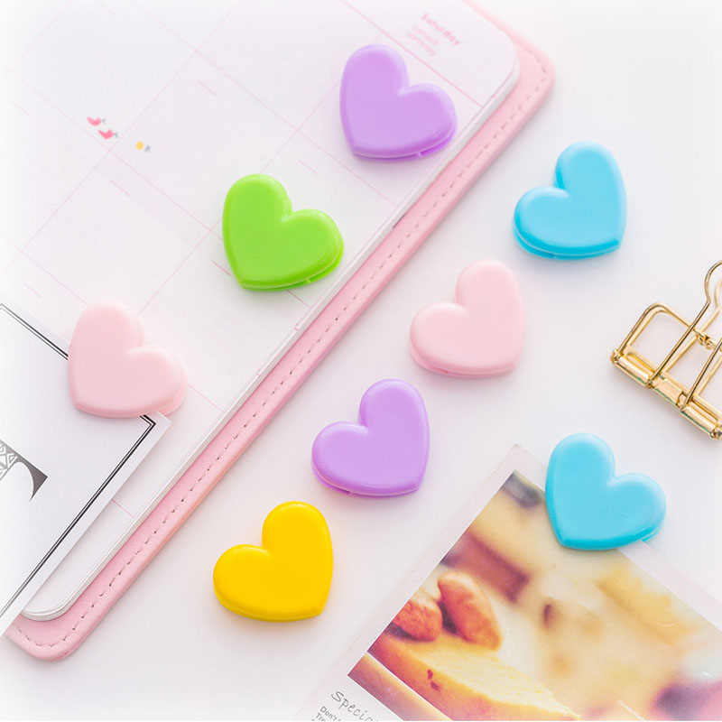 4 Pcs/lot Colorful  Love Heart Cute Pushpin Clip Thumbtack Pins Decorative DIY Tool Student Office Supply Kids Gift Stationery