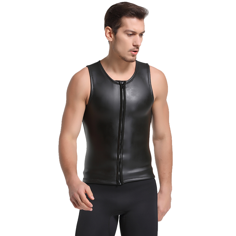 SBART New 2MM Neoprene Wetsuit Vest Sleeveless Sun Protection Smoothskin Wetsuit Surf Shirt For Men Surfing Diving Suit Jacket J 2016 new styles summer diving wetsuit for men father day s gift summer surfing costumes fine embossed wetsuit a1616