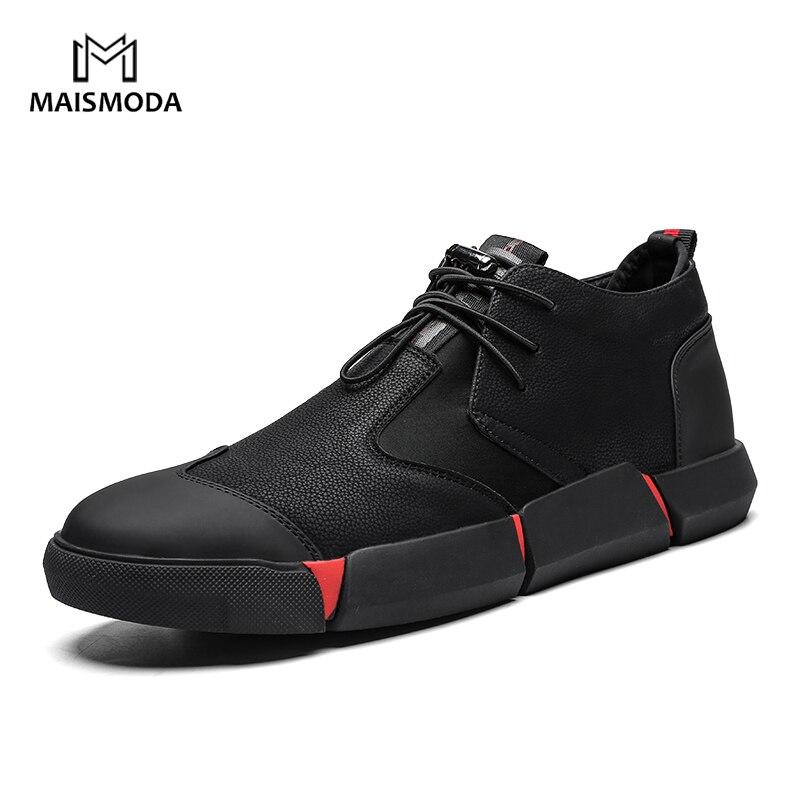 MAISMODA 2018 nuevos hombres de la moda Zapatos casuales zapatos de cuero de encaje transpirable Zapatillas de piel confortables de alta calidad al por mayor YL486