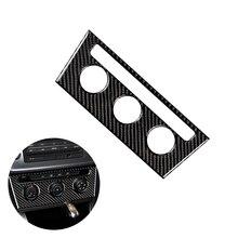 цена на For VW Golf 7 MK7 VII 2013 2014 2015 2016 2017 Carbon Fiber Car Interior Center Console Air conditioning Knob Frame Cover