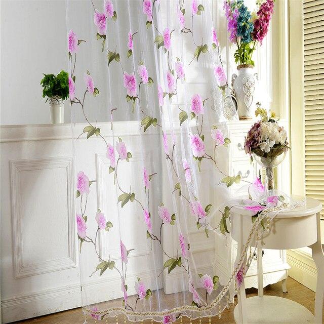 Cortinas de gasa fabulous cortina de gasa blanca con - Cortinas de gasa ...