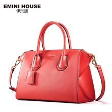 Emini house 2017 nuevo diseño de bolsos crossbody de las mujeres bolsos de hombro de cuero partido de lujo bolsa de mensajero bolso de las mujeres clásicas
