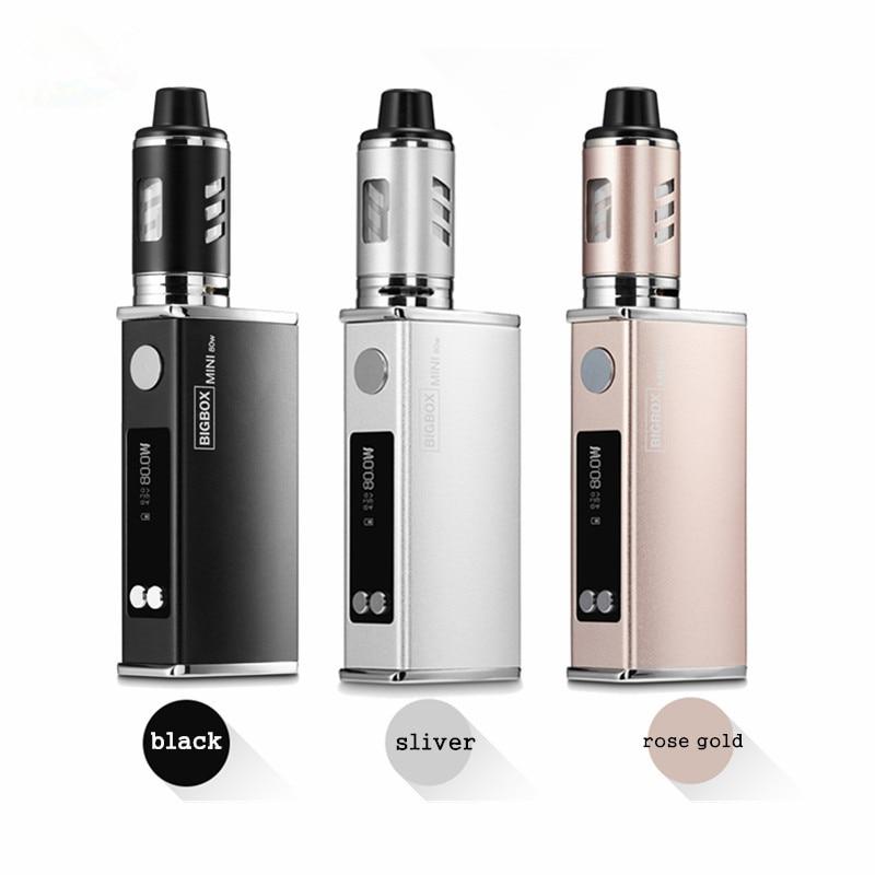 , 5PCS/lot Original mini 80w kit electronic cigarette kit LED display 2200mah battery liquid 80W vape pen vaporizer box mod kit