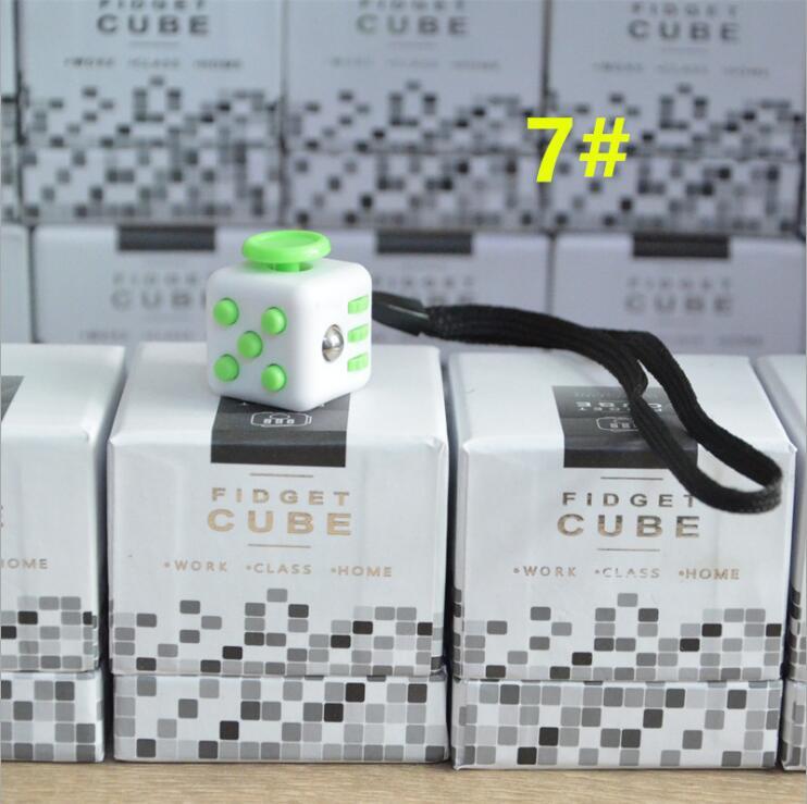 2.2cm Mini Fidgetes Cube Vinyl Desk Finger Toy Squeeze Fun Stress Cube Reliever 11 Colour Click Glide Flip Spin Breathe Roll