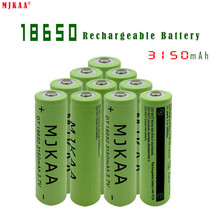 MJKAA Original 18650 Battery 3150mAH3.7V Lithium Battery, Suitable for Toy Electric Vehicles, Remote Controllers, Etc.