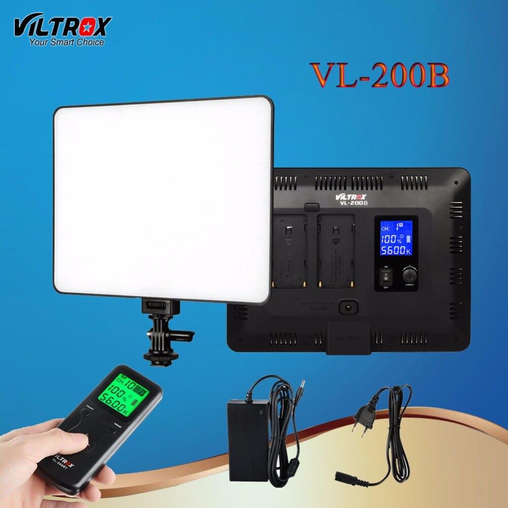 Viltrox VL-200B 30W Pro LED Studio Camera Video Light Wireless Remote Control LCD 13' Ultra Thin Dimmable For Canon Nikon DSLR 200b