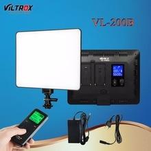 Viltrox VL-200B 30 W Pro Estúdio LEVOU Luz de Vídeo Da Câmera Sem Fio Controle remoto LCD 13′ Ultrafino Regulável Para Canon Nikon DSLR