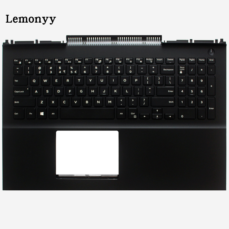 New US laptop keyboard for DELL Inspiron 15 7566 7567 Backlit Keyboard palmrest Upper cover коляска glory 1109 зелёный