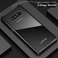 Case For Samsung Galaxy Note 8 Luxury Original Luphie Aluminum Metal Frame 9H Glass Back Cover