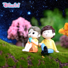 2pc Romantic Lover Figurines Boy Girl Wedding Doll Miniatures Couple Fairy home Garden Decoration toy DIY accessories gift