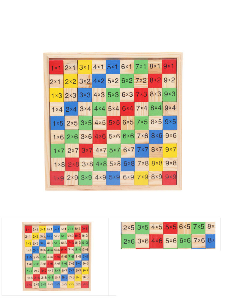 Montessori Wood Multiplication Table Wooden Children Educational Toys 99  Arithmetic Math Toy Figure Building Blocks Christmas Gift (1)
