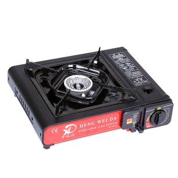 Портативная ветрозащитная уличная газовая плита, семейные кухонные принадлежности для путешествий, мини-печь для кемпинга. Оборудование д...