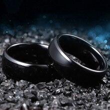 125KHZ/13.56MHZ RFID Black Ceramics Smart Finger Ring Wear for Men or Women RFID Copier Writer Duplicator Programmer Reader 1pc