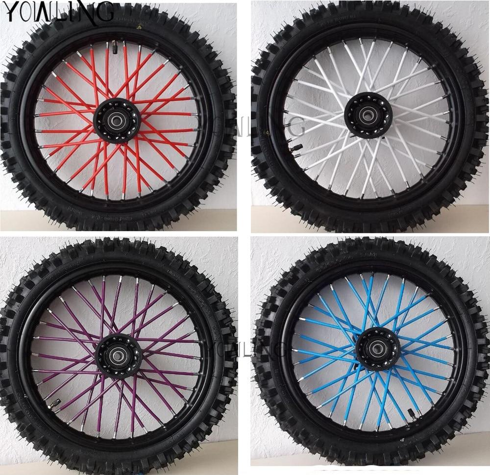 Universal Motorcycle Wheel spoke skins Dirt Bike Enduro Off Road Rim For honda crf 450 CR CRF XR XL 85 125 250 500 KTM KAWASAKI
