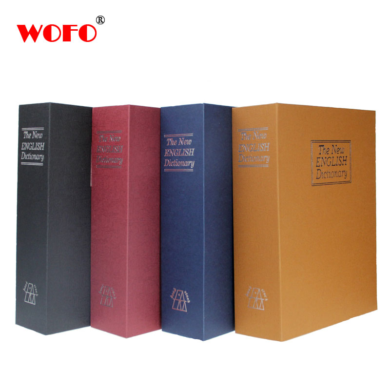 WOFO Dictionary Secret Book Piggy Bank Safes Simulation Money Jewelry Insurance Storage Boxes with Key Lock 26.5*20*6.5 CM