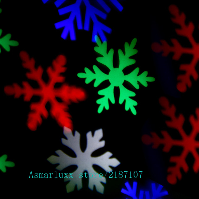 Moving Snowflake Spotlight Indoor/outdoor LED Landscape Projector Light Wall Decoration Light RGBW White Snowflakes Christmas christmas elk snowflakes printed wall stickers